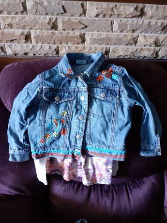 Пиджак джинсовый с футболкой на 4-5 лет 110 см