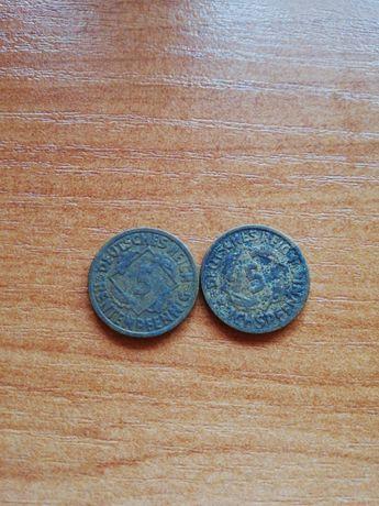 Moneta 5 deutsche reichspfennig 1924/25r