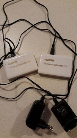 Transmiter Bezprzewodowy HDMI Premium zasięg 30 m