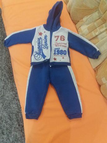 Теплый спортивный костюм для мальчика р.86-92
