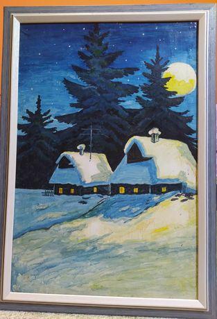 Картина * ночное село *