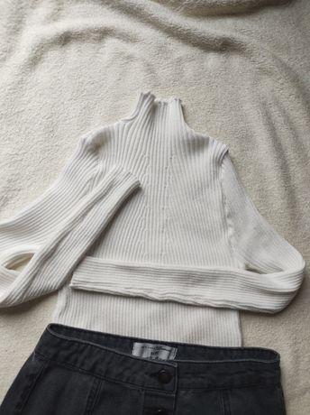 Półgolf biały 100% bawełna. 158/164 / xs