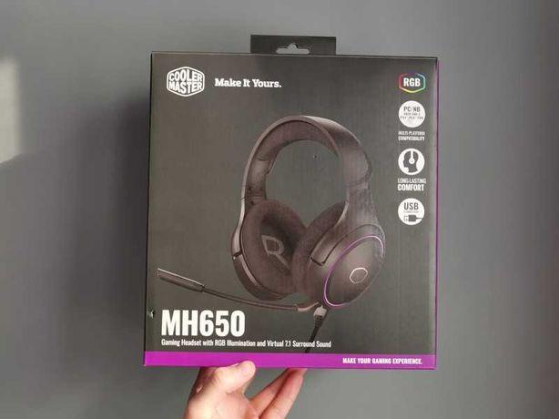 Słuchawki gamingowe Cooler Master MH650 - używane kilka godzin