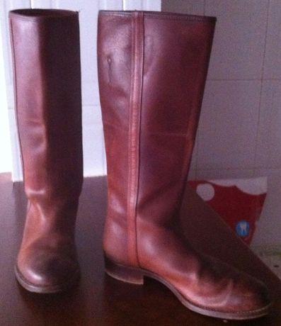 botas caneleiras feitas à mão