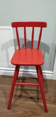 Krzesło krzesełko wysokie drewniane do stołu dla dziecka Ikea