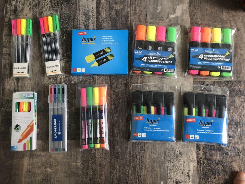Marcadores / canetas fluorescentes