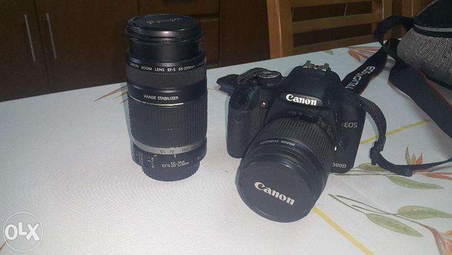 Canon 500D + 2objetivas *aceito troca*