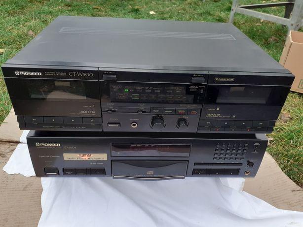 Sprzedam  Pioneer PDS 604 odtwarzacz CD + Pioneer CT - W 500 magnetofo