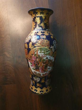 Duży wazon, ręcznie złocony. Chiny.