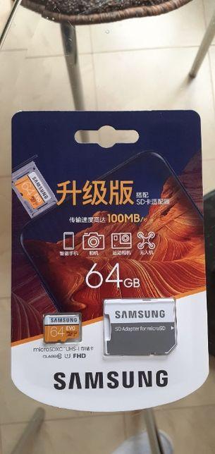 Карта памяти Micro SD card 64 Гб SAMSUNG