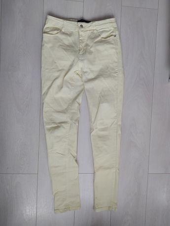 Damskie spodnie żółte - Cropp (rozmiar 38/M)