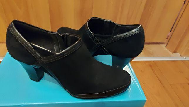 Батильоны туфли Clarcs 38 размер кожа замш