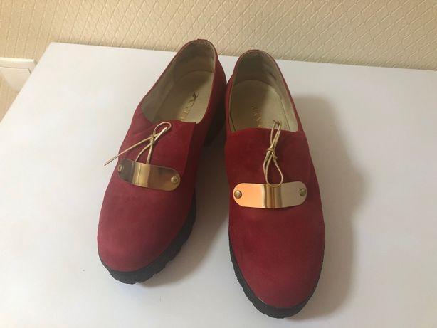 Туфли весна-осень замшевые
