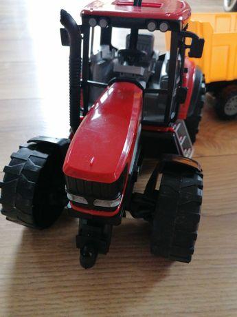 Traktor z przyczepą zabawka