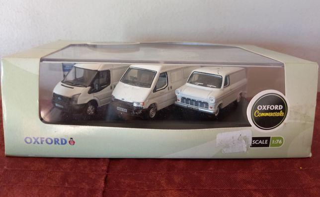 Conjunto de 3 carrinhas ford transit escala 1/76