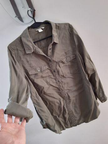 Bluzka koszulowa ciążowa koszula HM Mama Lyocell przewiewna