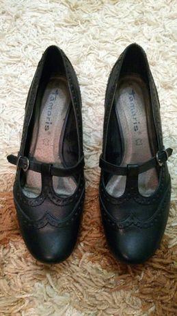 туфлі шкіряні Tamaris 36-37 розмір, устілка 24 см