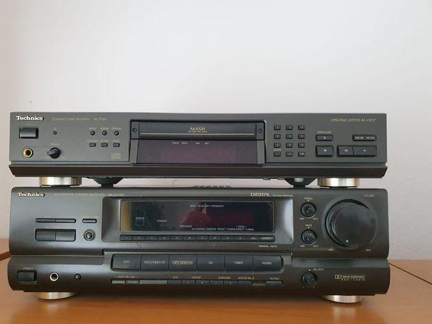 ZESTAW technics CD + Amplituner