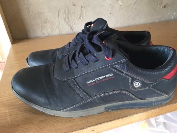 Кожанные кроссовки для мальчика