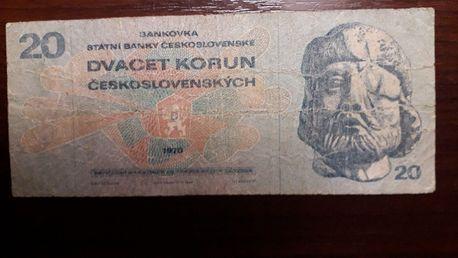#Чешская банкнота.20 крон.