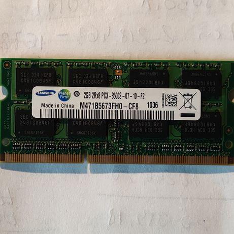 Pamięć 2 GB RAM DDR3 laptop