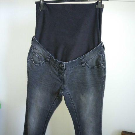 Ciążowe spodnie jeansy rurki wysoki stan Next S M