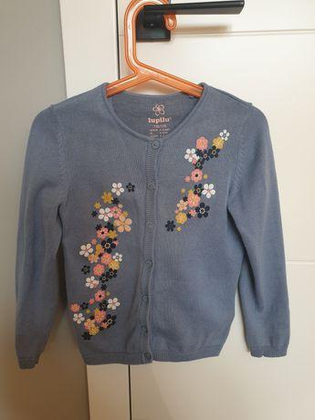 R. 110/116, sweter rozpinany dla dziewczynki