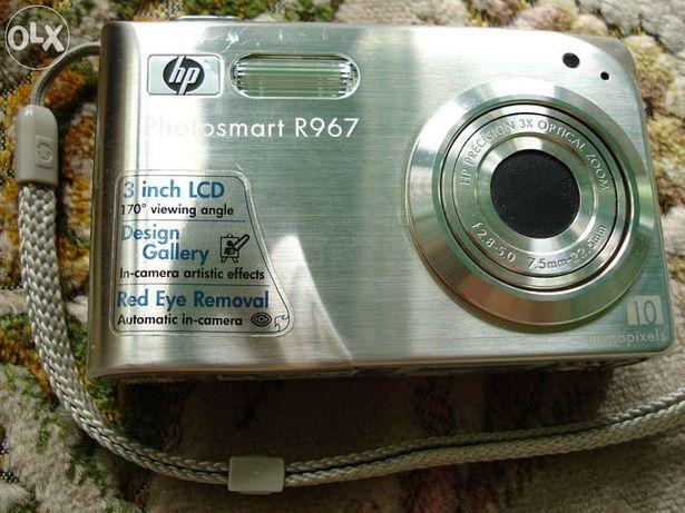 aparat kompaktowy kompakt HP photosmart R967 10 megapikseli