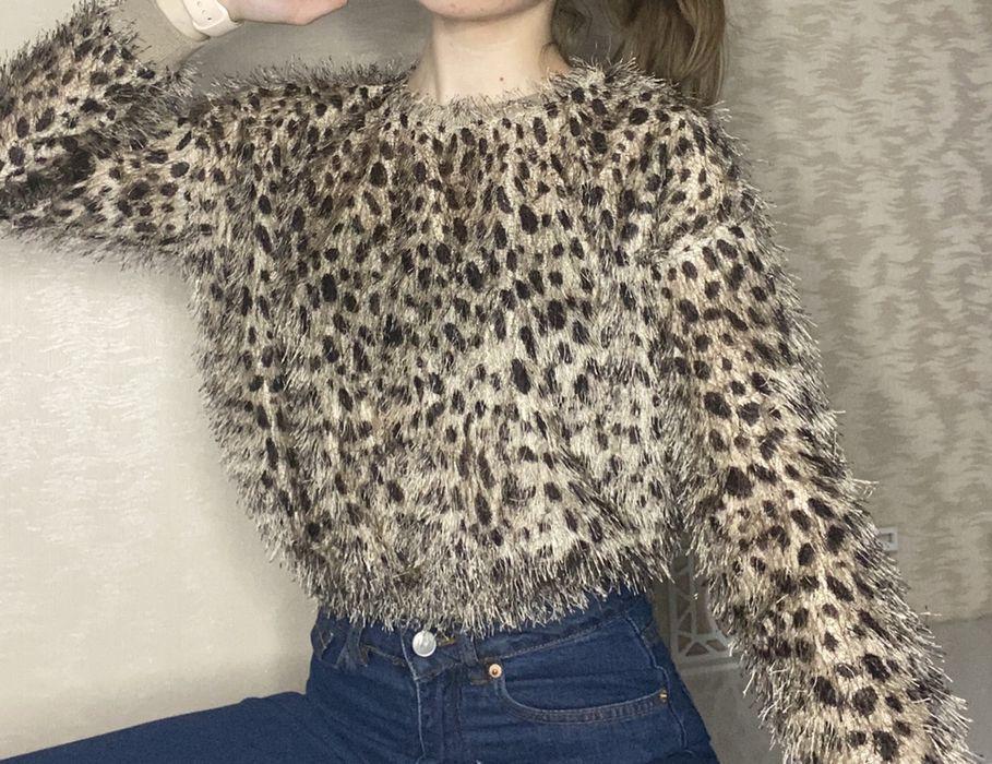 Леопардовый укороченный свитер Котовск - изображение 1