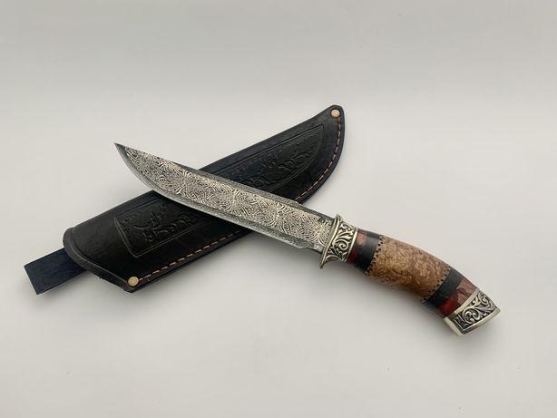 Нож ручной работы, «мозаичный дамасск»