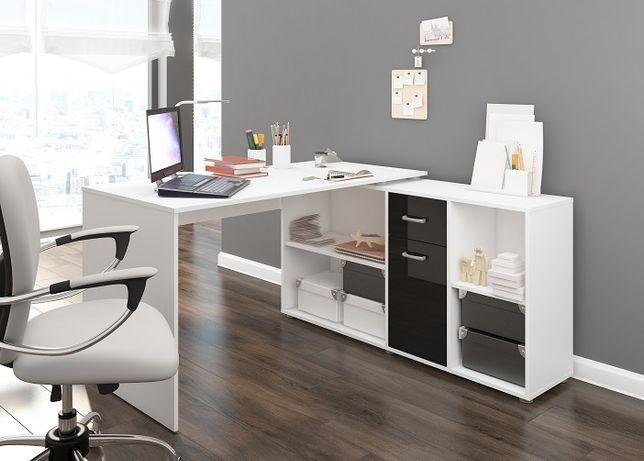 Narożne biurko z komodą Bett wersja Prawa i Lewa - 5 kolorów