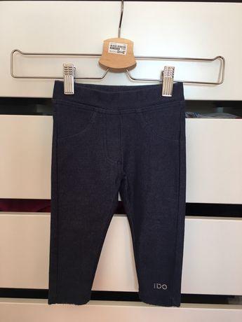 Calças de ganga azuis escuras, muito confortáveis, tamanho 12 meses.