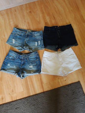 Spodenki szorty jeansowe damskie 4pary cena razem z przesyłką