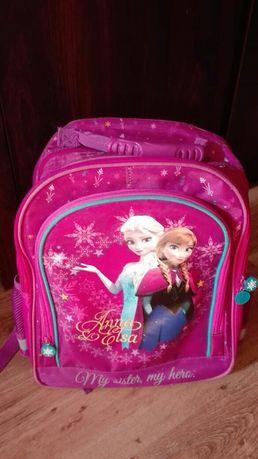 Tornister szkolny Frozen Elsa i Anna, usztywniany
