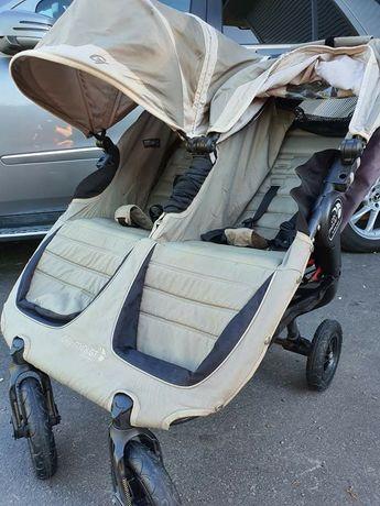 Wózek spacerówka bliźniaczy bliźniaków Baby Jogger City Mini Double