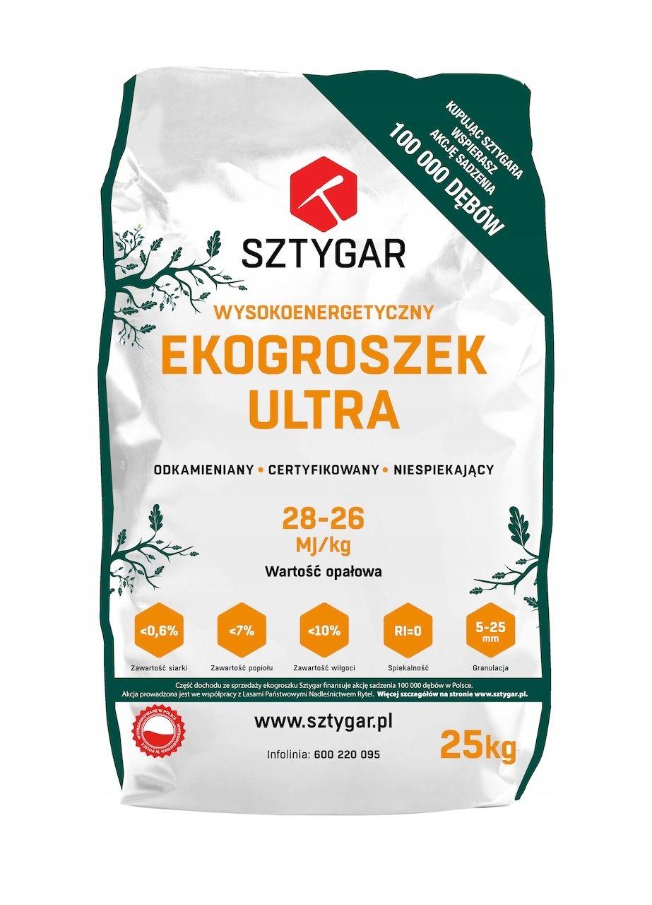 Ekogroszek Sztygar Ultra 26-28MJ Najwyższa jakość suchy