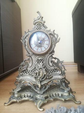 Zegar mosiężny stojący (kominkowy)