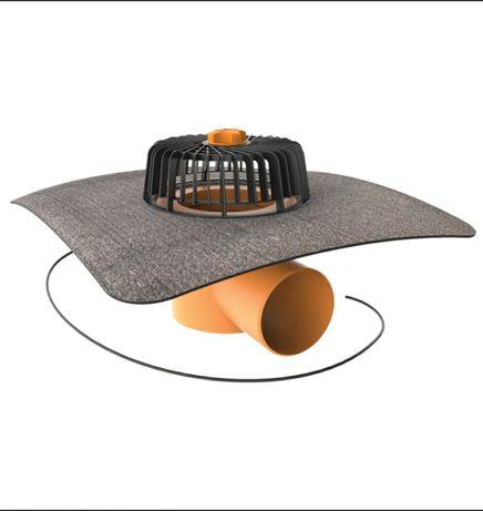 TopWent Odpływ z dachu płaskiego garażu Podgrzewany z kołnierzem