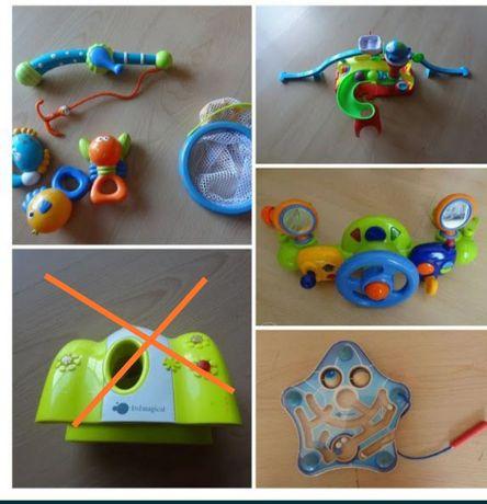 Varios Brinquedos da Imaginarium: jogo pesca, tunel Beep Beep, volante