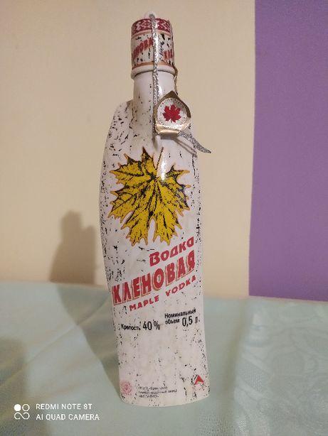 Butelka kolekcjonerska porcelana wódka klonowa