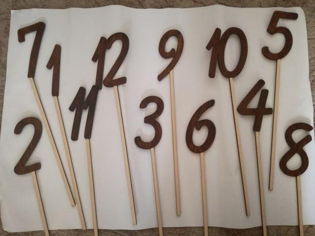 Numery stołów 1-12.