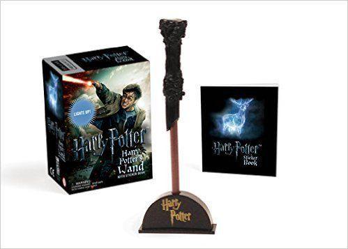Harry Potter varinha iluminável + autocolantes - NOVO