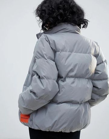 ОРИГИНАЛ пуховик Calvin Klein рефлектив новый серый курточка зима xl