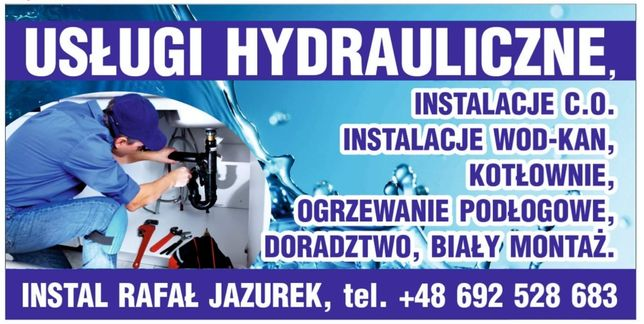 Hydraulik. Wykonam prace hydrauliczne. Nowe inwestycje,  modernizację