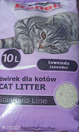 Żwirek dla kota Benek lawendowy Standard Line 10L