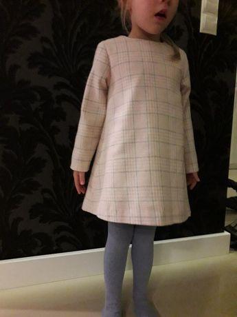 NOWA elegancka sukienka wloska wełna 98 104