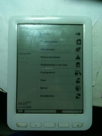 "Электронная книга EBook Reader 2GB +SD E-Ink 6"" тачскрин"