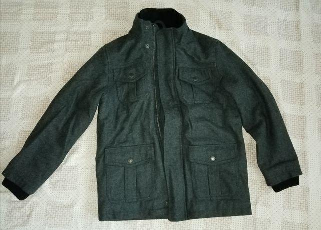 Пальто на мальчика 8-9 лет. Серое пальто на мальчика
