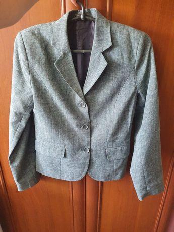 Пиджак школьный серый