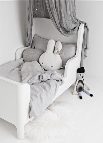 Lóżko lóżeczko dziecięce białe Regulowana Długość! 139-209cm J. Nowe